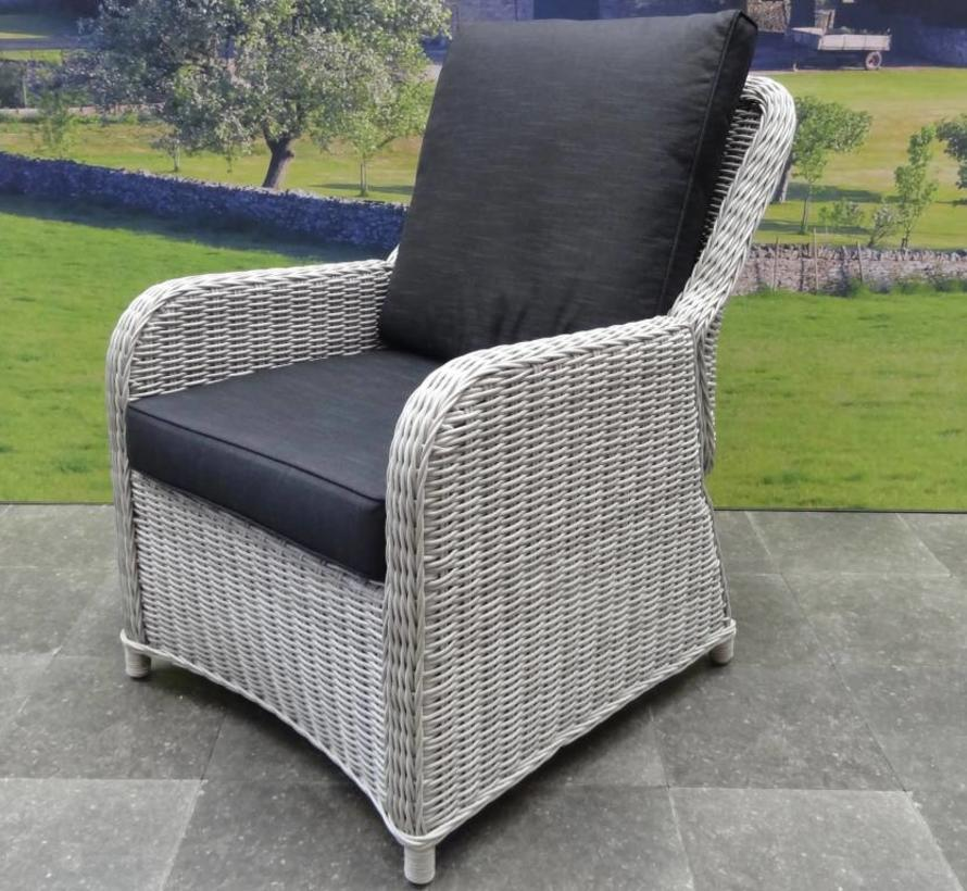 Bilbao XL stoel-bank dining loungeset verstelbaar 6-delig wit-grijs