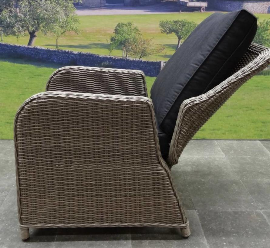 Bilbao XL stoel-bank dining loungeset verstelbaar 6-delig grijs