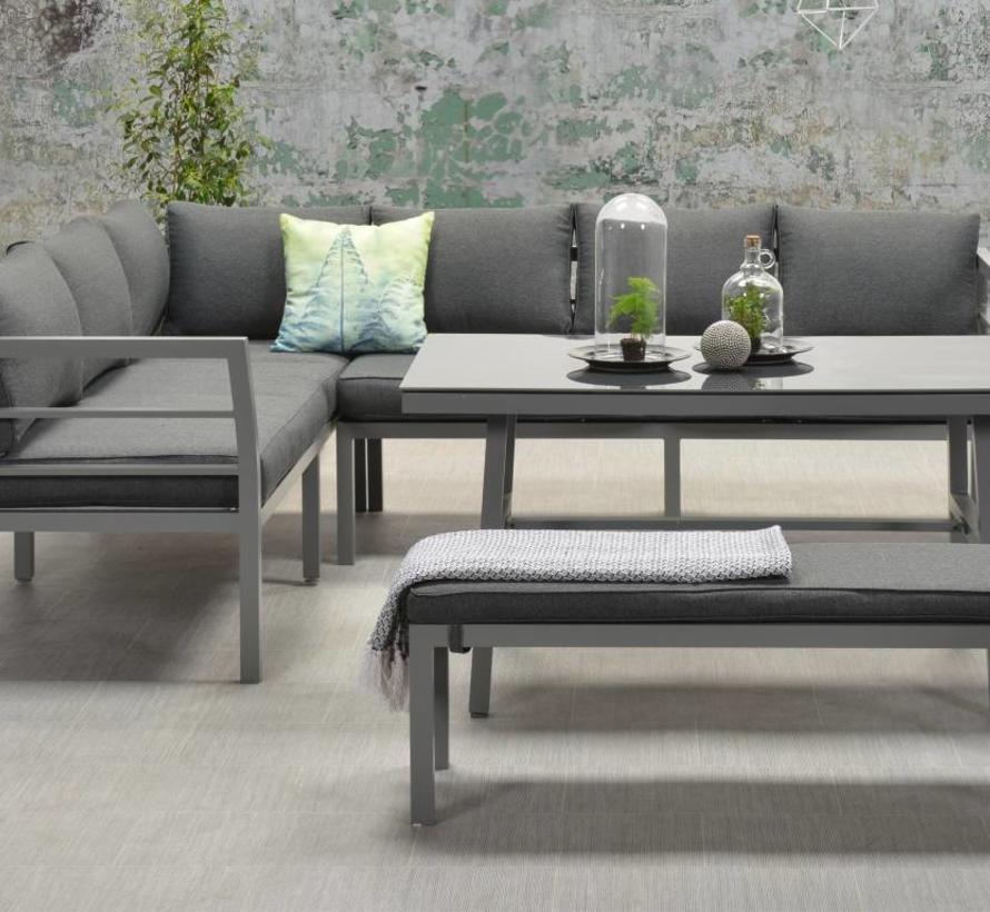Blakes hoek dining loungeset 4-delig aluminium grijs