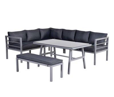 Garden Impressions Blakes hoek dining loungeset 4-delig aluminium grijs