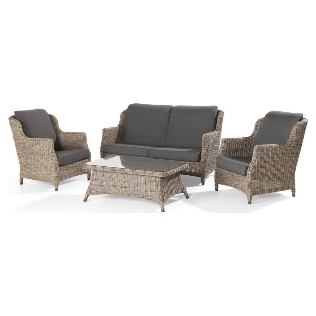 Brighton stoel-bank loungeset 4-delig Pure 4 Seasons Outdoor