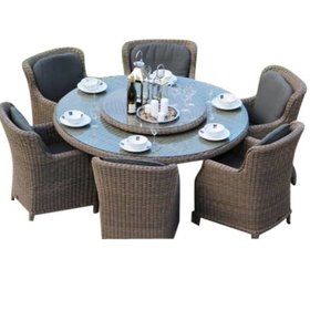 Taste 4SO Victoria Brighton dining tuinset Ø 170 cm  7-delig Pure