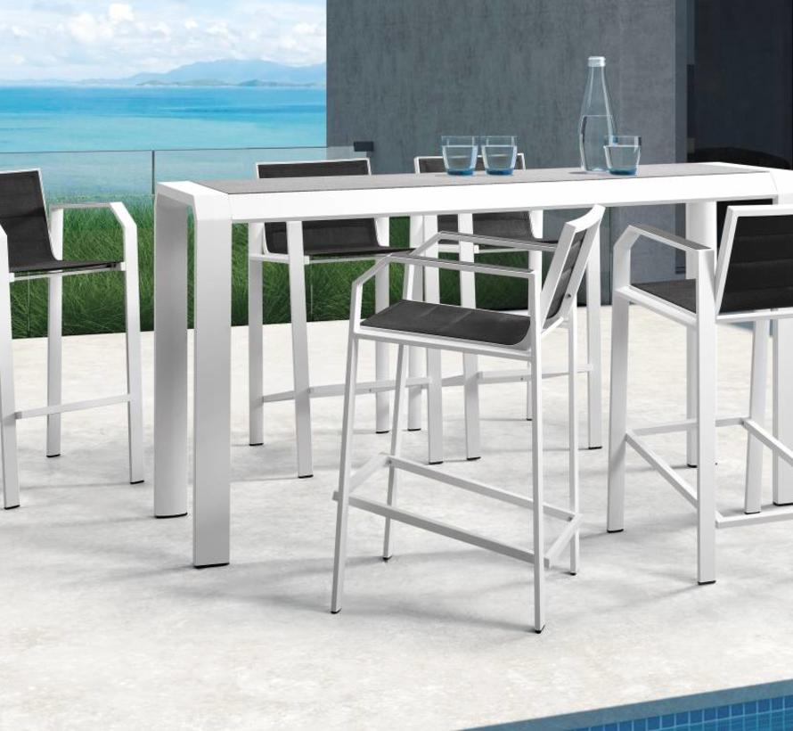 Nomad bar tuinset 5-delig wit aluminium zwart textileen