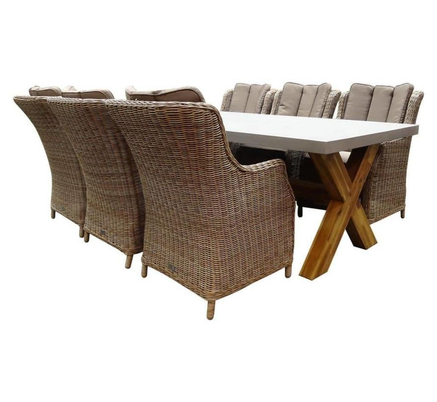 Norwich Darwin Deluxe dining tuinset 240x100xH77 cm 7-delig  wicker