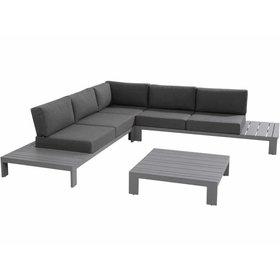 Taste 4SO Ocean hoek loungeset 4-delig donkergrijs aluminium