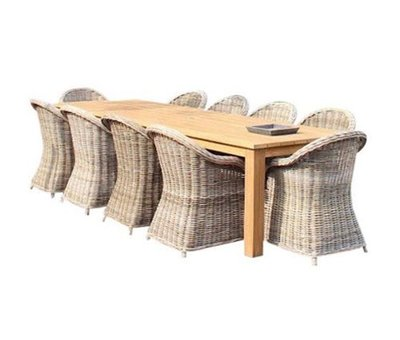AVH-Collectie Old Java Roma dining tuinset 320x110xH77,5 cm 11 delig