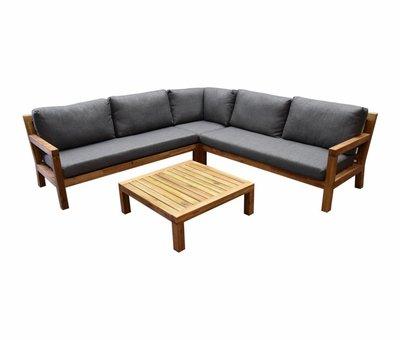 AVH-Collectie Harby hoek loungeset 4-delig teaklook