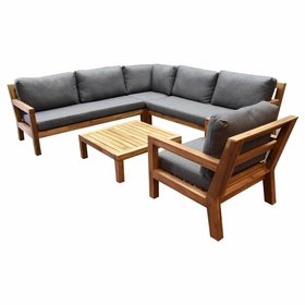 AVH-Collectie Harby hoek loungeset 5-delig teaklook