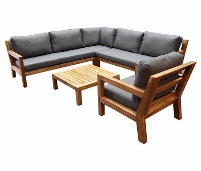 AVH-Collectie Harby hoek loungeset 5-delig teaklook