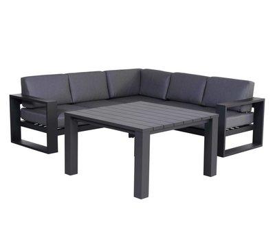 Garden Impressions Cube hoek dining loungeset 4-delig aluminium antraciet