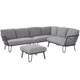 4 Seasons Outdoor Premium hoek loungeset rechts 4-delig aluminium antraciet