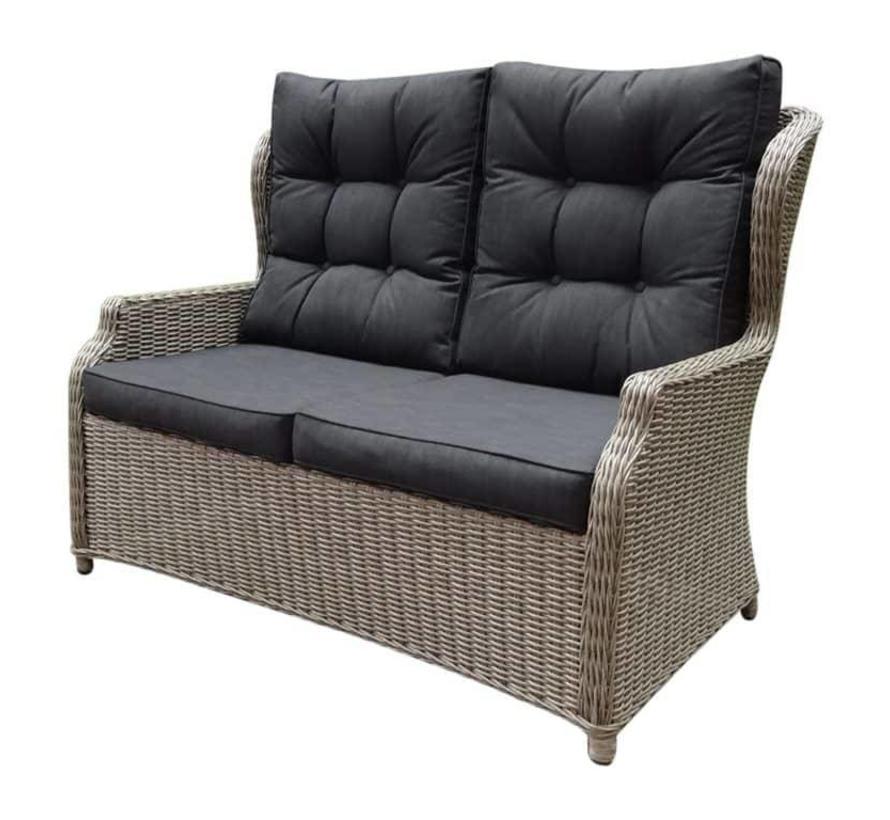 Ibiza XL stoel-bank loungeset 4-delig verstelbaar grijs