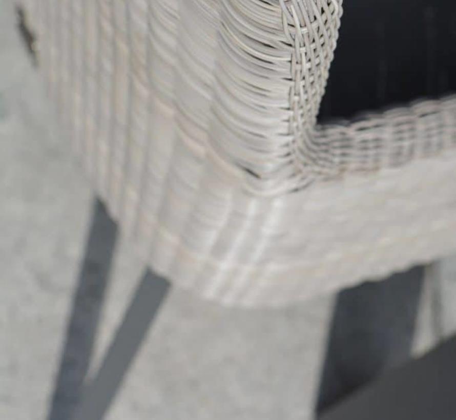 Derby Luxor dining tuinset Ø 130xH75 cm 5-delig aluminium teak