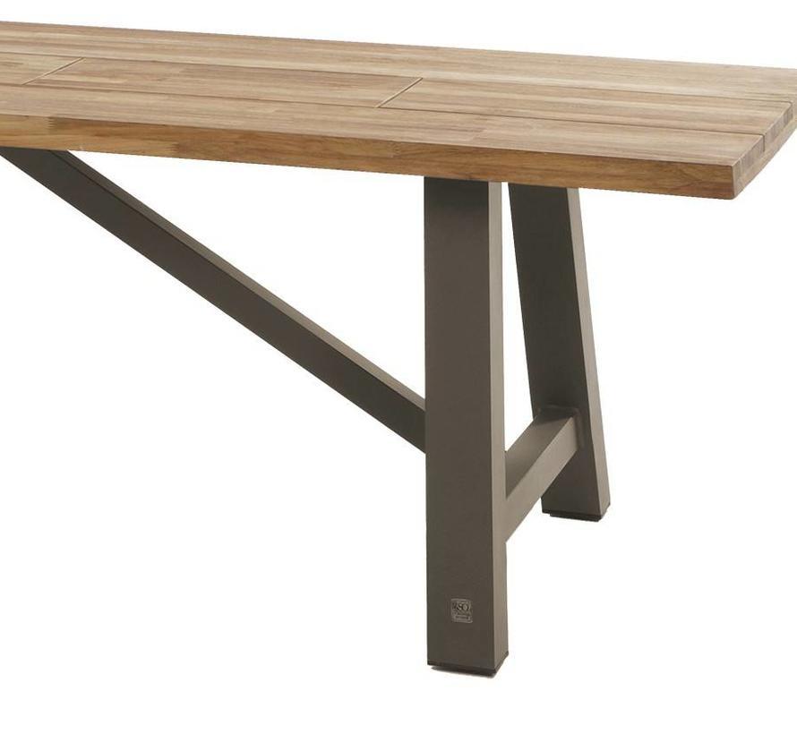 Icon lounge-dining tuintafel 300x100xH77 cm teak taupe onderstel