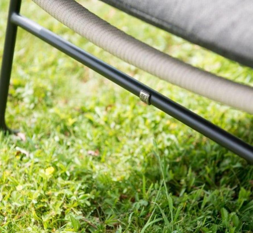 Derby Scandic dining tuinset Ø 130xH75 cm 5-delig aluminium teak