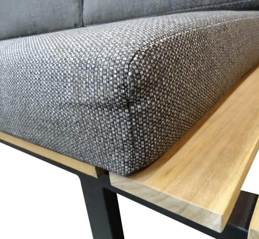 Jakarta hoek loungeset 4-delig aluminium – teakhout