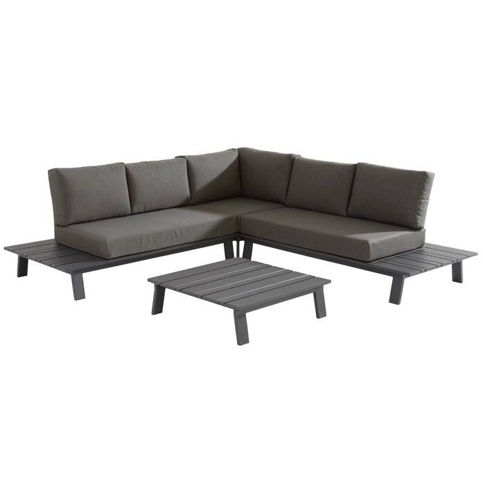 Sofia hoek loungeset 4-delig antraciet aluminium Taste 4SO