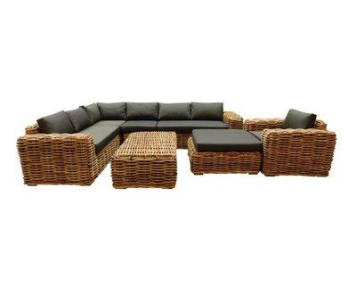 AVH-Collectie Sabuga hoek loungeset 7-delig naturel rotan