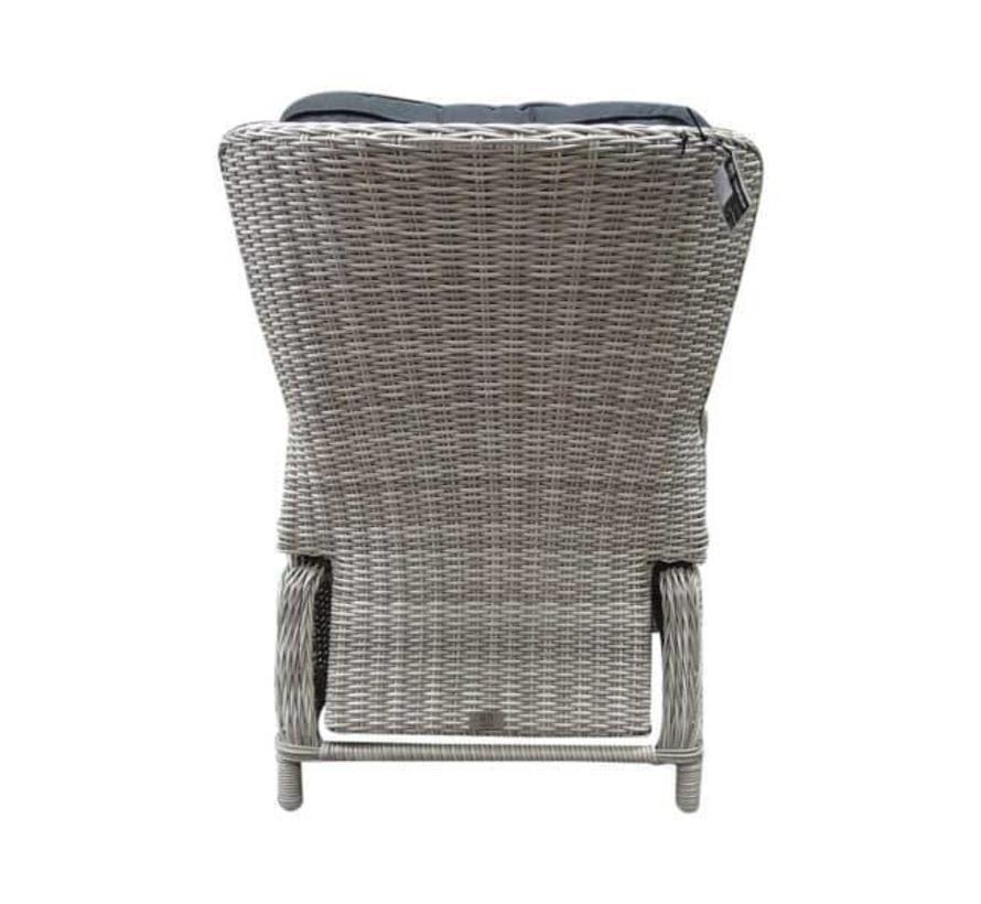 Riccione-Marina dining tuinset 150 cm rond 6-delig wit grijs