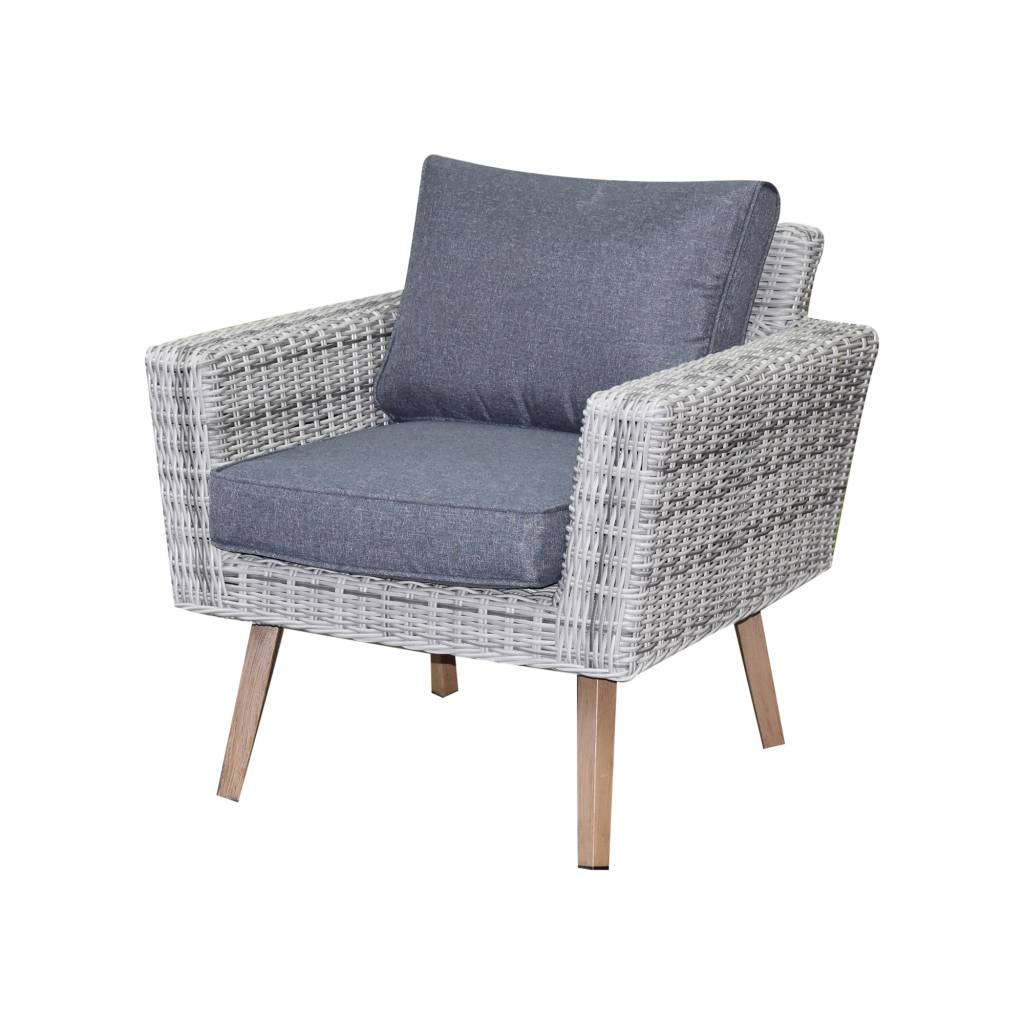 Andalucia lounge tuinstoel wit grijs