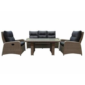 AVH-Collectie San Francisco stoel-bank dining loungeset 4-delig grijs