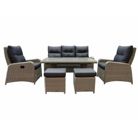 AVH-Collectie San Francisco stoel-bank dining loungeset 6-delig grijs