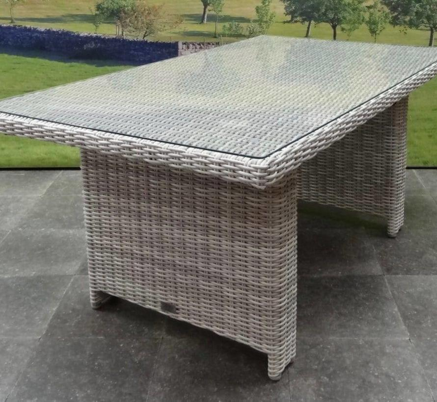 San Marino hoek dining loungeset verstelbaar 5-delig  wit grijs