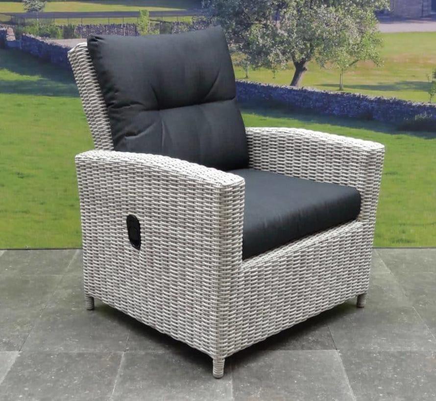 San Marino stoel-bank dining loungeset verstelbaar 6-delig  wit grijs