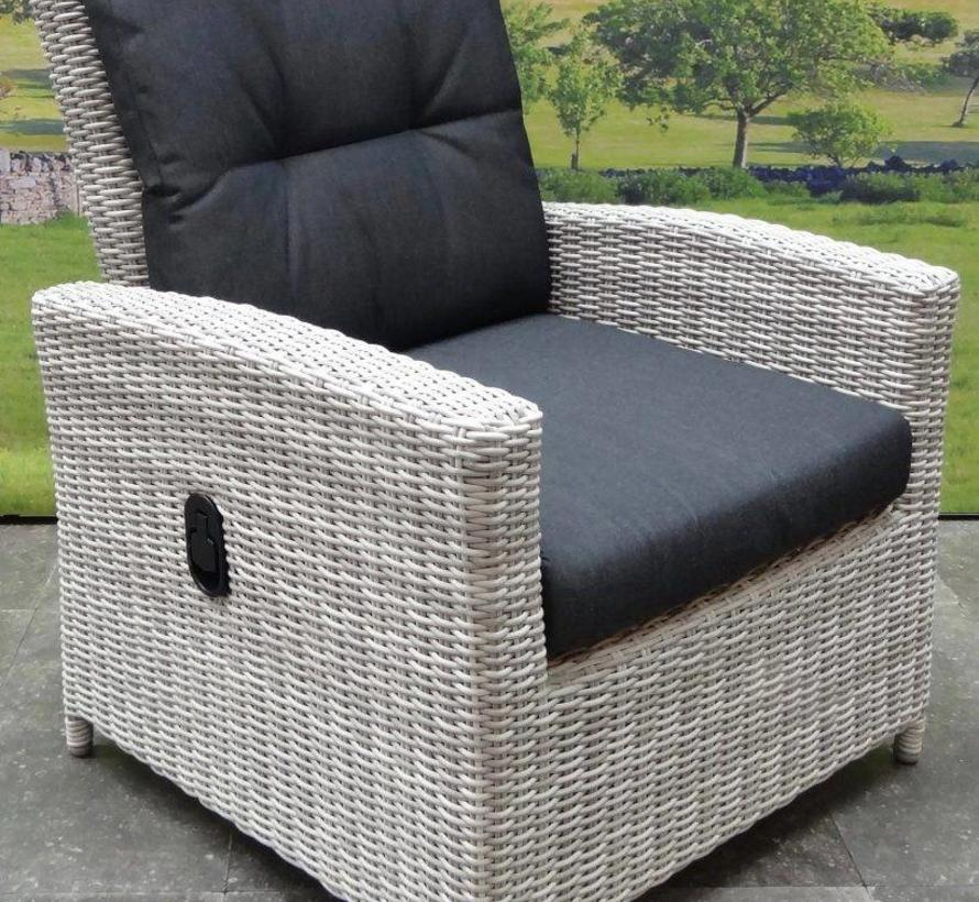 San Marino stoel-bank lounge diningset verstelbaar 4-delig  wit grijs