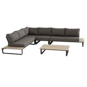 4 Seasons Outdoor Delta hoek loungeset 6-delig antraciet aluminum 4 Seasons Outdoor