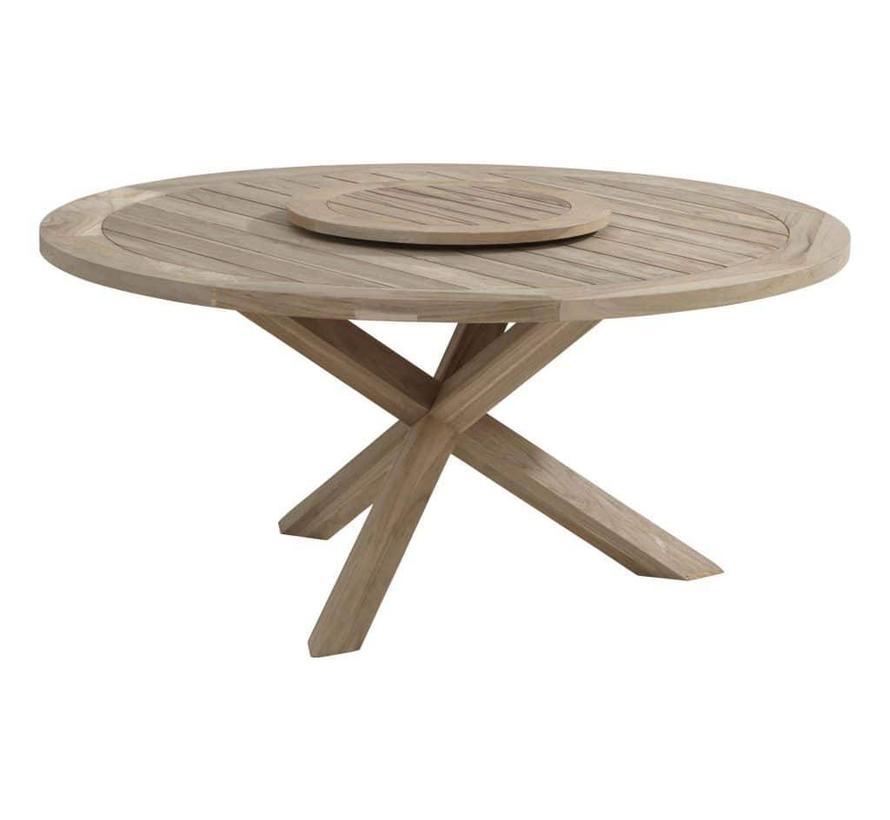 Louvre + lazy susan teak 160cm rond dining tafel Taste 4SO