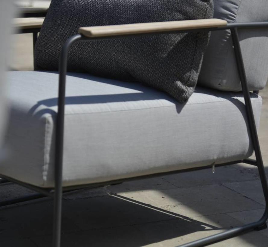 Coast lounge tuinstoel aluminium antraciet 4-Seasons Outdoor
