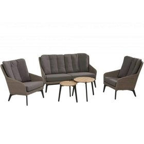 4 Seasons Outdoor Luxor stoel-bank loungeset 5-delig pebble