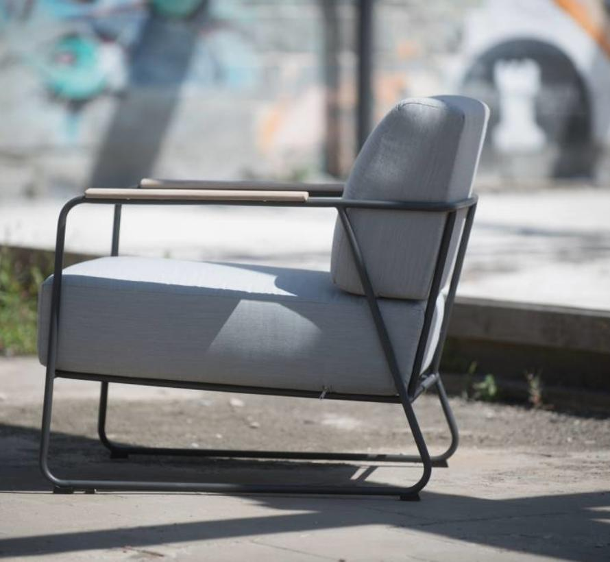 Coast stoel-bank loungeset 4-delig antraciet rvs 4 Seasons Outdoor