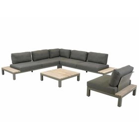 4 Seasons Outdoor Fidji hoek loungeset 5-delig teakhout