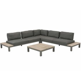 4 Seasons Outdoor Fidji hoek loungeset 4-delig teakhout