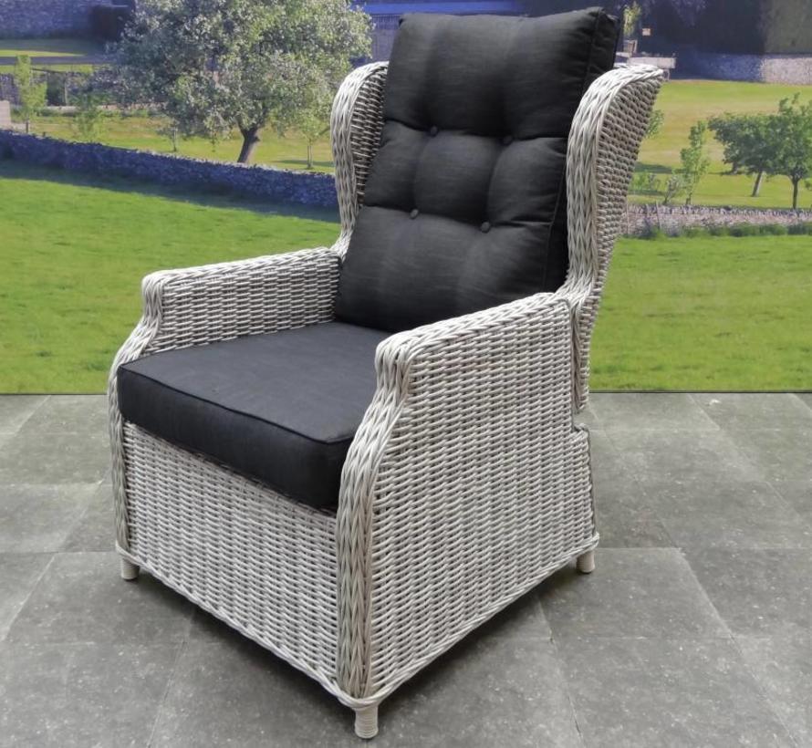 Toscane XL lounge balkonset verstelbaar 3-delig wit grijs