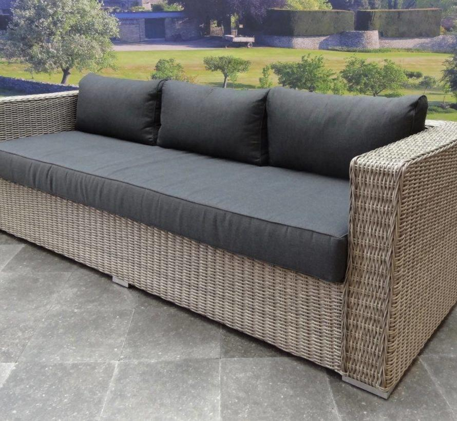 Matino chaise longue loungeset 3-delig grijs