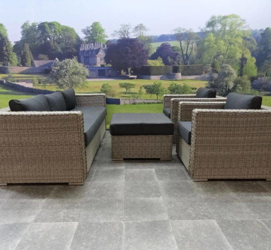 Matino stoel-bank loungeset 4-delig grijs