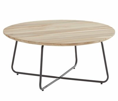 4 Seasons Outdoor Axel lounge tuintafel 90xH40 cm rond teak 4-Seasons Outdoor