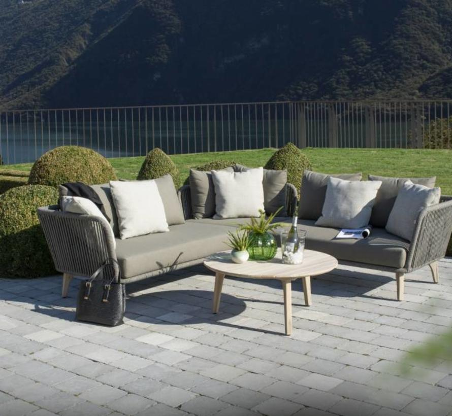 Santander hoek loungeset 4-delig taupe rope 4 Seasons Outdoor