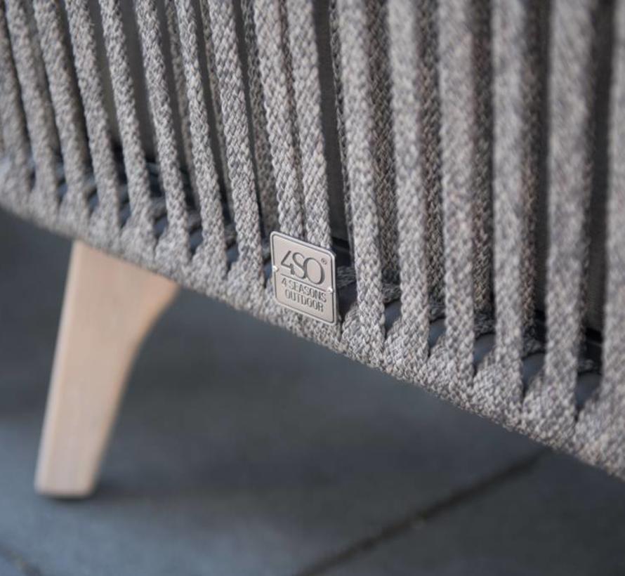 Santander hoek loungeset 5-delig taupe rope 4 Seasons Outdoor