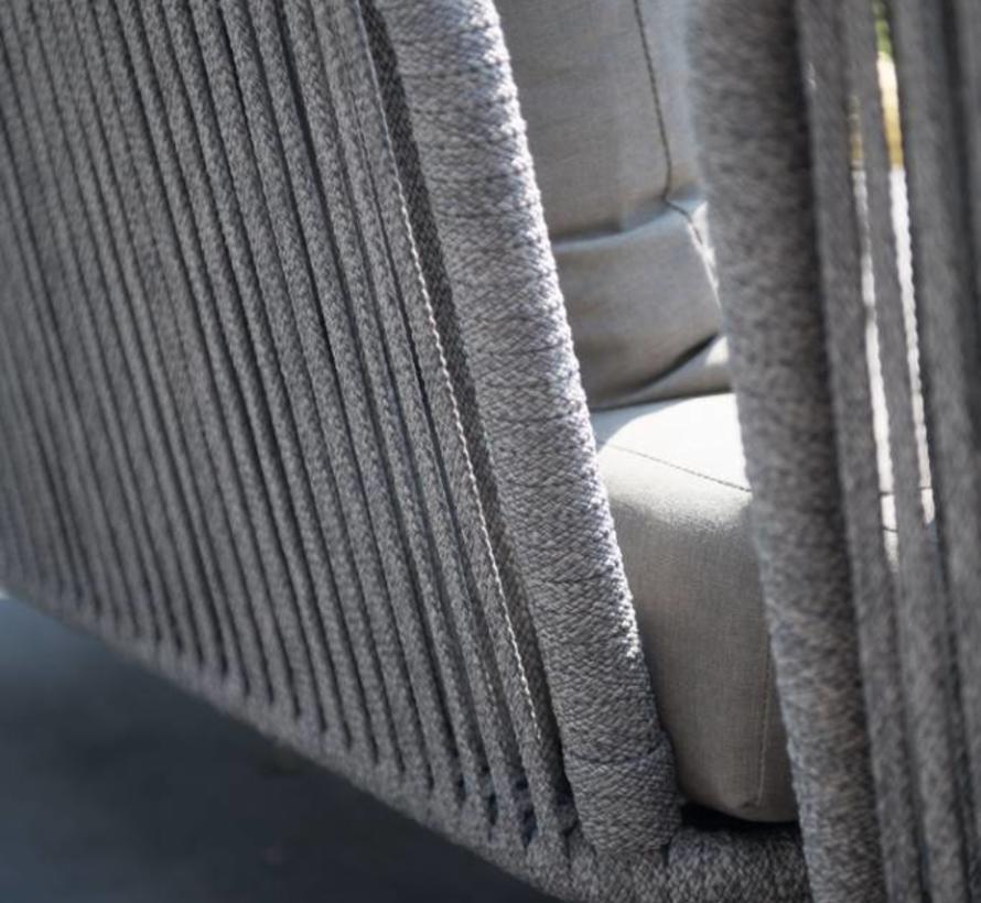 Santander hoek loungeset 7-delig taupe rope 4 Seasons Outdoor