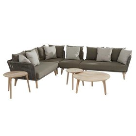 4 Seasons Outdoor Santander hoek loungeset 7-delig taupe rope 4 Seasons Outdoor