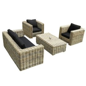 AVH-Collectie Nissah 3 zits stoel-bank loungeset
