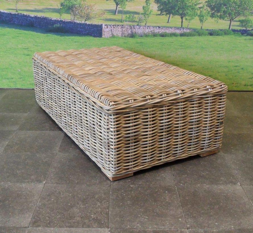 Nissah XL hoek loungeset  3-delig naturel rotan (links)