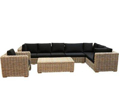 AVH-Collectie Nissah XL hoek loungeset rechts 5-delig naturel rotan