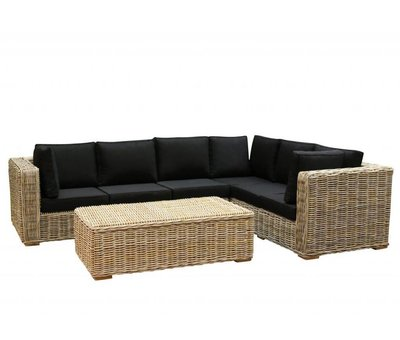 AVH-Collectie Nissah XL hoek loungeset 3-delig naturel rotan (rechts)