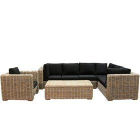 AVH-Collectie Nissah XL hoek loungeset rechts 4-delig naturel rotan