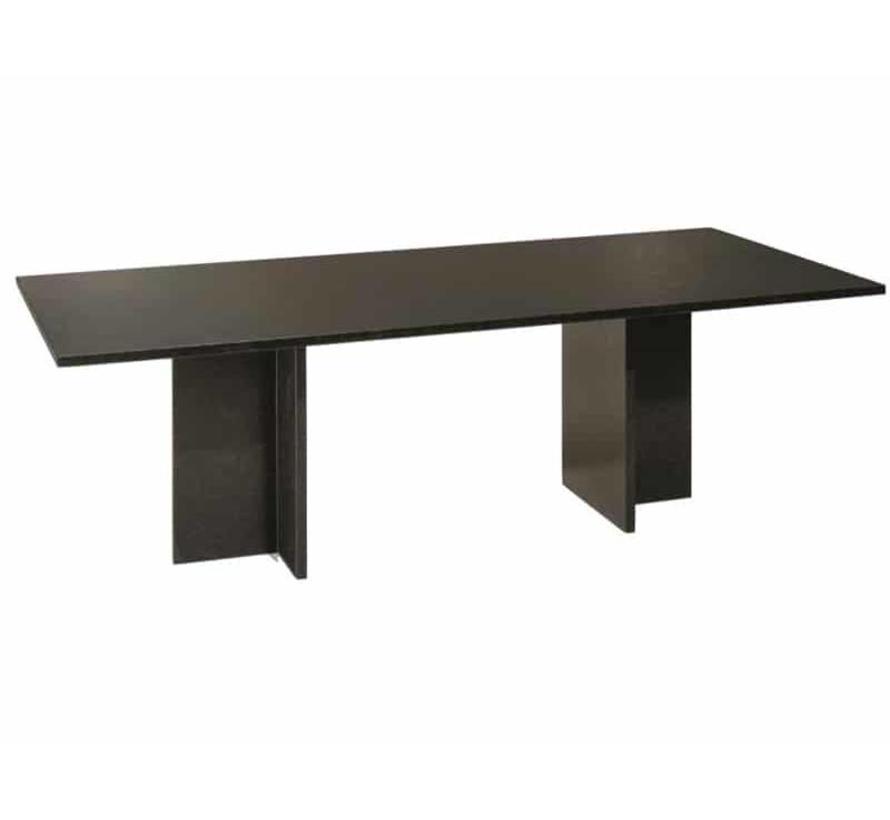 Turijn dining tuintafel 220x90xH75 cm 2cm graniet pearl black satinado